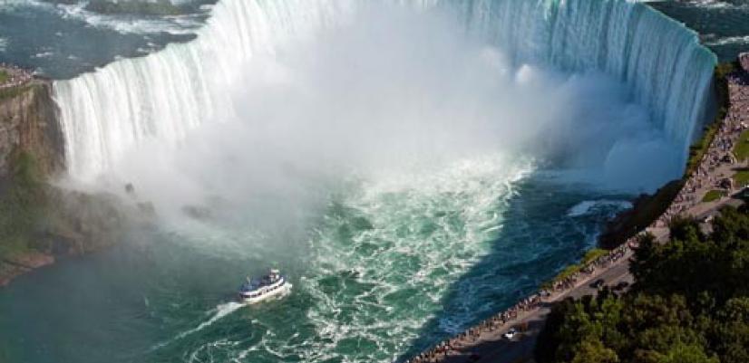 خرید تور کانادا زمستان 96, تماشای آبشار نیاگارا